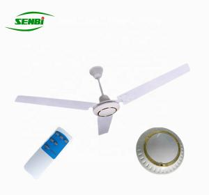China 12 Volt Solar DC Ceiling Fan 56 Inch AC DC Motor With Remote Control on sale
