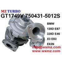Discount MZ TURBO Garrett Turbine Turbocharger GT1749V 750431-5012S For BMW 120D 320D E46 520D Engine M47TU 2.0L 150HP