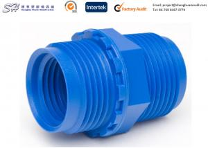 China Bule Color Internal And External Threads Products Made By Injection Moulding on sale