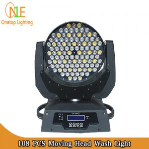 China 3 in 1 RGBW LED Stage Light dj effect light 108x3w led moving head wash stage light supply on sale