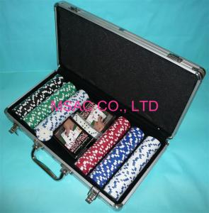 China MS-Chip-13 Aluminum Chip Case Black Color Poker Chip Display Case For Packing Chippers on sale