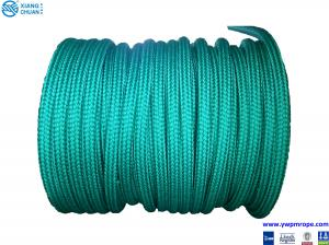 China aquamarine double braided high strength polypropylene mooring ropes for ship on sale
