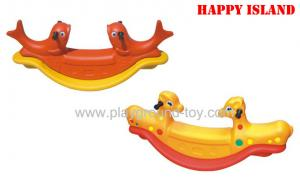 China Cartoon  Childrens Garden Toys Kids Outdoor Plastic Seesaw For Playground Kids Toys on sale