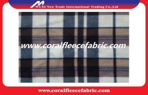 China 100% Polyester Knitting Custom Printed Polar Fleece Fabric / Fleece Blankets Material on sale