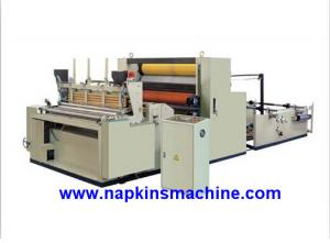 China Full Automatic Toilet Paper Making Machine , Jumbo Roll Toilet Tissue Machine on sale