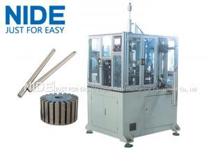 China 4KW Rotor Assembly Line , Servo Automatic Armature Commutator Shaft Inserting Machine on sale