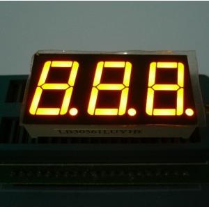 China Triple Digit 7 Segment LED Display Yellow Color For Electric Oven / Microwave on sale