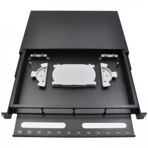 China Sliding Type 1U SC Optical Fibre Frame Fusion Splicing Patch Odf Fiber Panel on sale