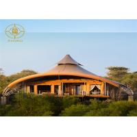 Custom Size Luxury Permanent Tents Resort Villa Membrane Structure Construction