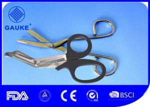 China Plastic Handle First Aid Surgical Medical Emergency Bandage Scissor For First Aid Refills on sale
