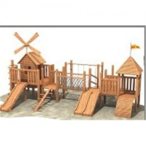 China Wooden playground on sale