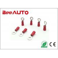 RV1.25 Insulated Ring Tongue Terminal , Circular Electrical Spade Wire Ferrule