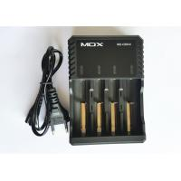 Black 4 Slot 18650 Battery Charger , Electronic Cigarette Battery Charger ABS Material