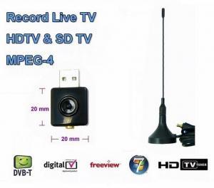 China Micro USB DVB-T Digital Terrestrial Receiver RTL- FM + DAB TV Stick USB DVB-T For Laptop PC on sale