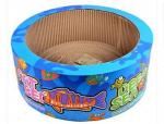 China Round Shape Cardboard Cat Bed Multi Color Choices Attractive Non - Toxic Glue wholesale