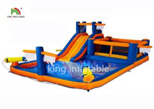 China Inflatable Mini Backyard Monkey Bar Slides For Child / 4.5*8m Pool Water Slide on sale