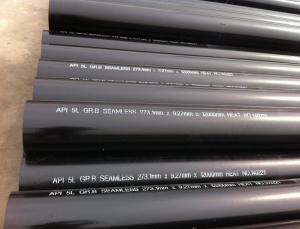 China OD 273.1 mm X W.T 12.7 mm X L 12000 mm API 5L Gr.B Carbon Steel Seamless Pipe,Black Paint Coated,Plain End on sale