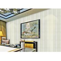 Peelable Washable Striped Non Woven Wallpaper For Living Rooms decorative