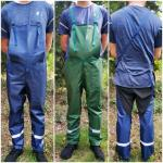 Factory direct labor protection pants tube stitching strap pants shrub grass garden protective work clothes