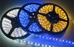 China 60led / m non - waterproof SMD 3528 Flexible blue led Strip, 4.8w / m, 5m / reel, R / G on sale
