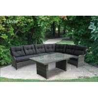 Wicker Rattan Garden Table Furniture Sectional Sofa Set For Deep Relaxing