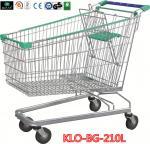Chariot en acier à achats de supermarché de chrome de déploiement avec la roue d'escalator
