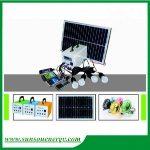 China 20w/12v portable solar lighting system, led home solar lighting kits with promotional price for hot selling on sale