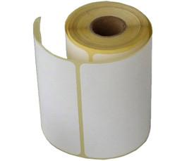China Wholesale Blank White Direct Thermal Barcode Paper Labels Sticker Rolls for Zebra Printer on sale