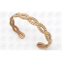 PVD IP Rose Gold Plated Bangle For Lady , 316L Stainless Steel Weaved Bracelets