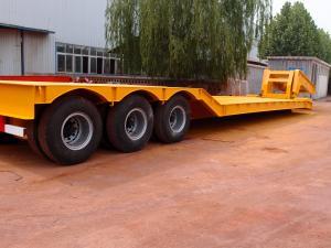 China 3 axle 80 ton lowboy trailer | Titan Vehicle Co.,Ltd on sale