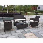 屋外の柳細工は大きい負荷の量の120sets/40'HQと置かれる藤のソファーをたたきます