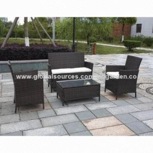 China Outdoor Wicker Knock down rattan sofa set with big loading quantity of 120sets/40'HQ on sale
