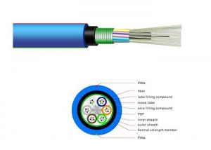 China Outdoor FTTH Fiber Optic Cable MGTSV Anti-Rodent Optical Cable For Mine 250 PVC on sale