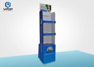 China Supermarket Promotion Cardboard Display Shelves Matte Film Lamination With Video on sale