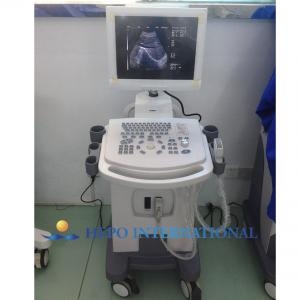China 14 monitor 2 probe connectors Full-digital Trolley Ultrasound Scanner on sale