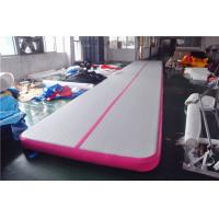 China Pink Small Blow Up Gymnastics Mat , Inflatable Tumble Track For Home on sale