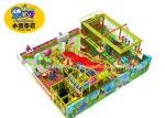 Rectangle Indoor Ropes Course Adventure Playground With Slide Customized