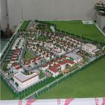 Miniature villa scale models for development plan , 3d physical model with lighting