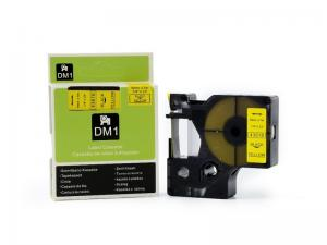 China D1 Label Tape Cassette Black On Yellow , 6mm / 12mm Labelling Machine Cartridges on sale