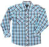 China Les fils de coton mous d'habillement à la mode d'enfants ont teint la chemise de garçon de contrôle, badinent des chemises de plaid on sale