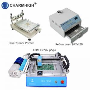 China PCB Assembly line: Stencil printer 3040 , CHMT36VA smt machine , BRT-420 Reflow Oven on sale