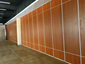 China MDF Melamine Surface Floor to Ceiling Aluminium Track System Conference Room Movable Sliding Partition Wall on sale