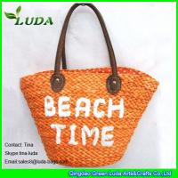 China LUDA embroidery letters cornhusk straw bags for summer 2016 on sale