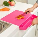 Detachable Custom Plastic Cutting Boards Household With Vegetable Basket