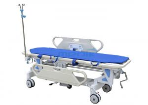 China Luxurious PP Patient Transfer Trolley , Mechanical Stretcher Cart on sale