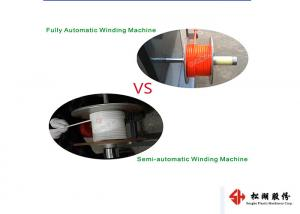 China Double Station Coil Auto Winding Machine , Plastic Film Blowing Machine Solder Wire on sale
