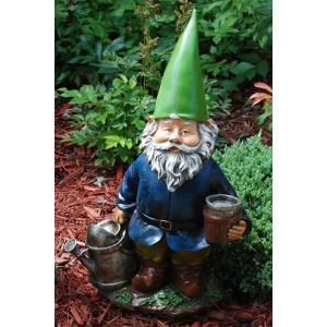 China Resin handmade landscape gardening Funny Garden Gnomes with stick on sale