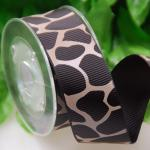 25 MM Custom One Color Ink Screen Leopard Print Ribbon For Gifts Wrapping