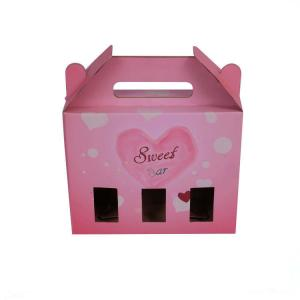 China Auto Closed Gift Paper Box Packaging , Corrugated Paperboard Case with Window on sale