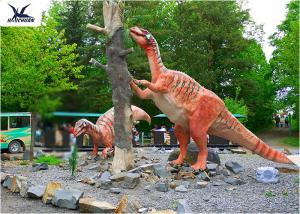 China Amusement Park Decoration Realistic Dinosaur Statues Artificial Mother And Baby Models on sale